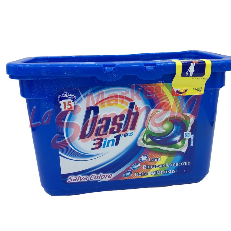 Detergent Dash pernute 3 in 1 color -15 spalari