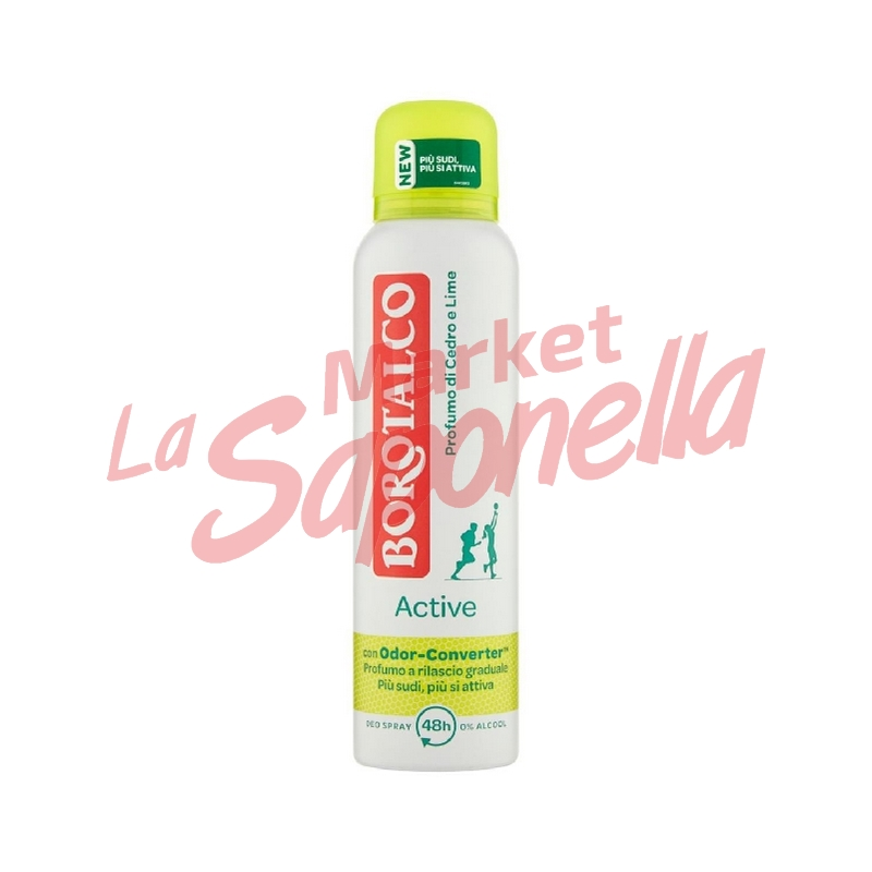 Borotalco Antiperspirant spray active Cedru si Lamaie 150 ml