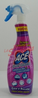 Spray spuma inalbitor+degresant Ace casa si haine 700 ml